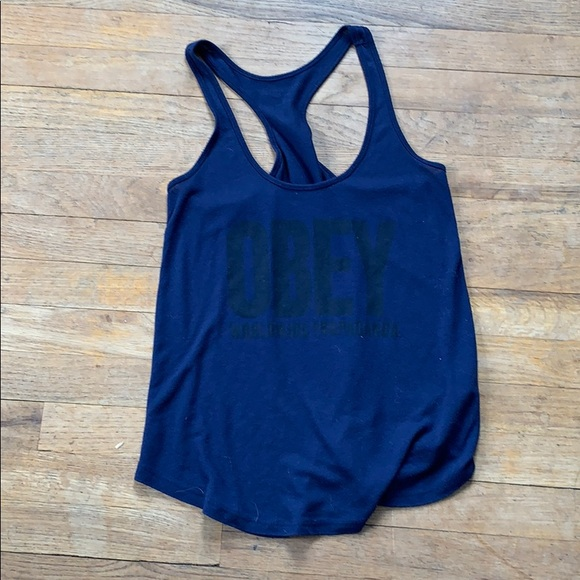 Obey Tops - Navy blue obey tank